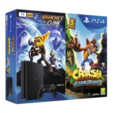 PlayStation 4 SLIM Bundle (1 Tb, Crash Bandicoot, Ratchet & Clank), , Консоли